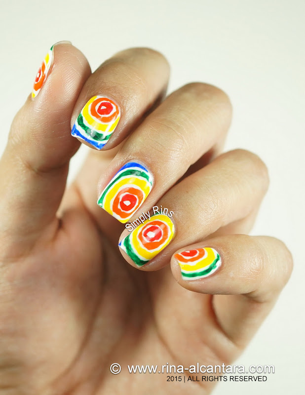 Rainbow After the Rain Nail Art