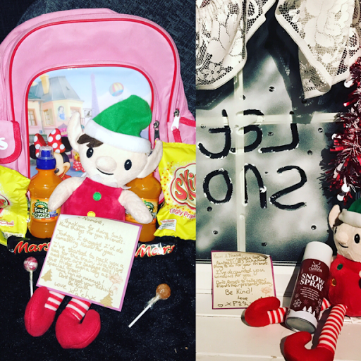 Kindness Elf snow window and snacks