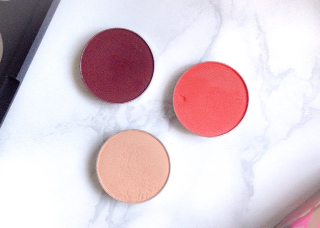 Makeup Geek Eyeshadows Review Beaches & Cream, Poppy, Cherry Cola