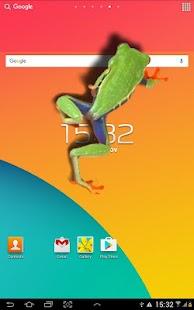 Frog walking on screen joke - náhled