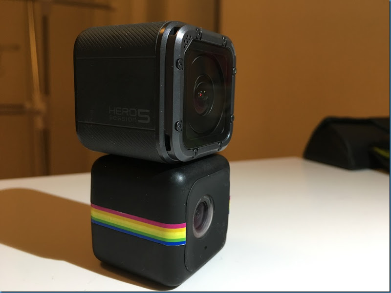GoPro Hero 5 Session Vs Polaroid Cube