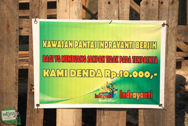 Rincian tarif denda kebersihan di Pantai Indrayanti