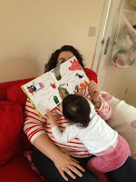 Toddler breastfeeding and reading