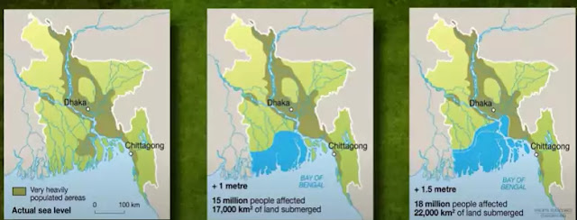 Low-lying coastal regions of Bangladesh