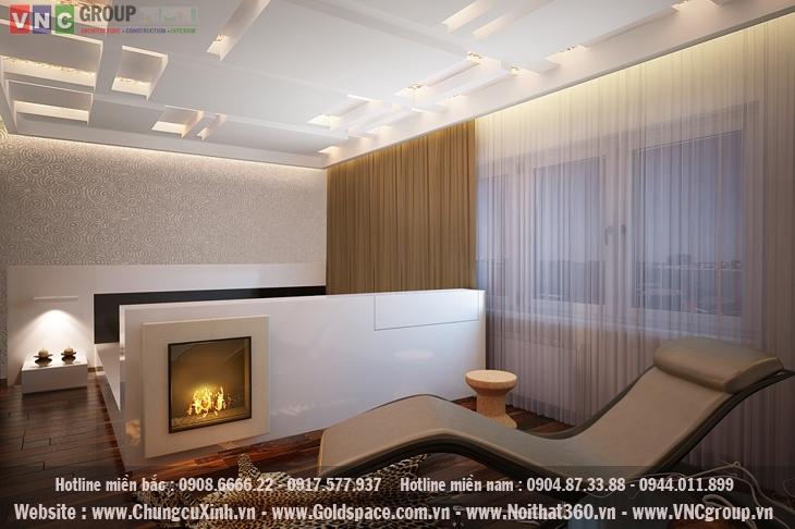 Mẫu thiết kế nội thất chung cư diện tích 130 m2 phong cách hiện đại tinh tế