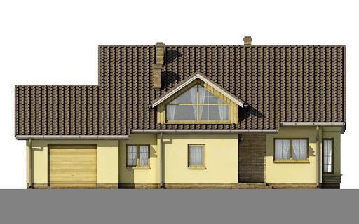 D34 - Antoni wersja drewniana - Elewacja przednia