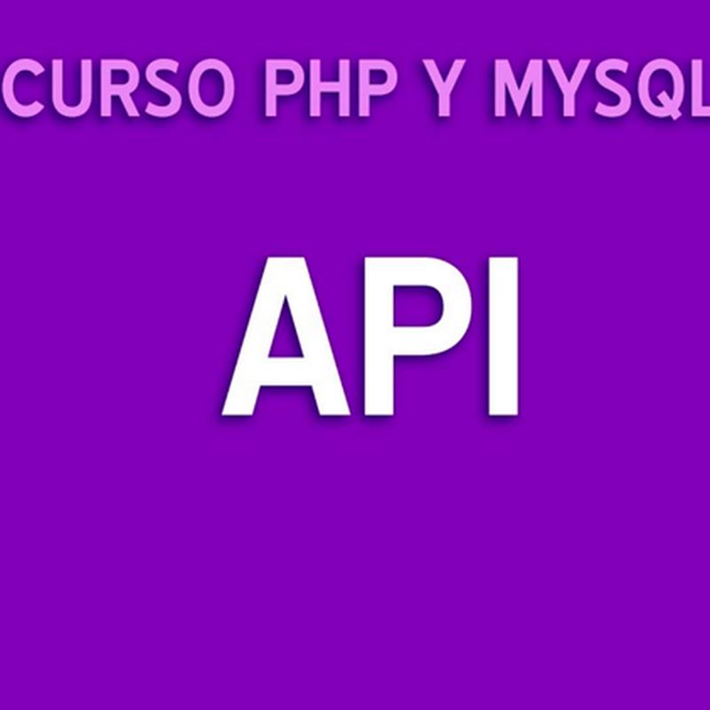 Tutorial para crear una API con PHP y MySQL
