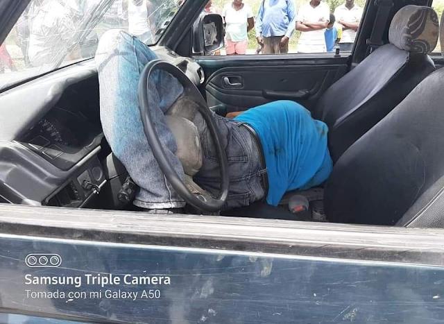 TAMAYO; Encuentran muerto dentro de su vehículo a hacendado agrícola.