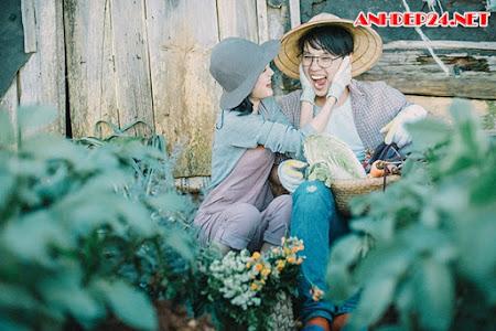 Ảnh cưới bên vườn rau xanh của cặp 9X Sài thành