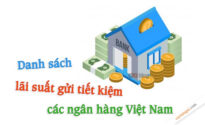 Danh sách lãi suất tiền gửi tiết kiệm của các ngân hàng Việt Nam