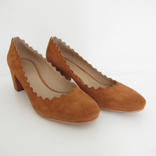 Chloé Scalloped-Edge Pumps