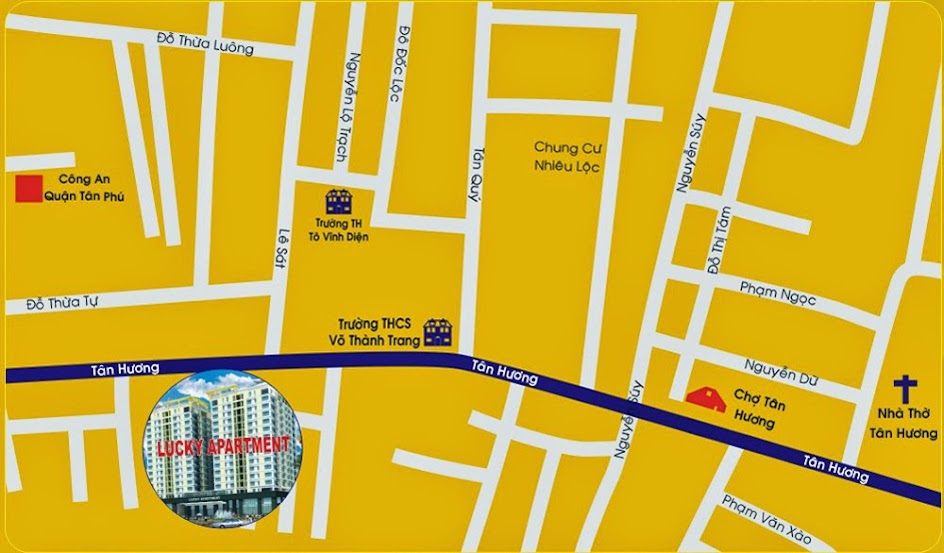 Vị trí dự án căn hộ Khang Gia Tân Hương