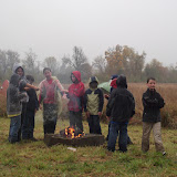 Nothing like a fire in the rain!