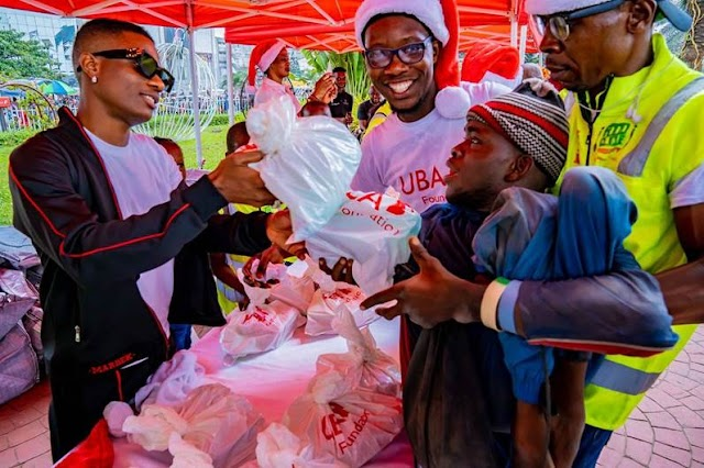 Uzoka, Wizkid Give Back to Thousands at the UBA Foundation Food Bank