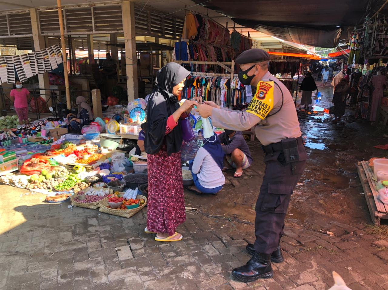 Ops Aman Nusa II di Bawah Komando Kasat Sabhara Polres Soppeng Berlansung Humanis