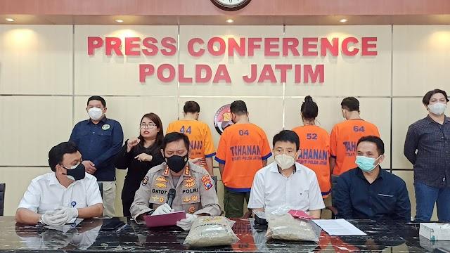 Ditresnarkoba Polda Jatim, Bongkar Sindikat Peredaran Narkoba Jaringan Internasional