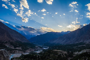 Picture of Hunza valley on the way to Duikher