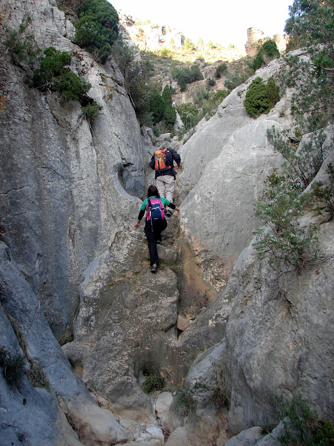 senderismo Araya Barranc de la Llosa - Tossal del Perro - Cova Corvatxos - Minas