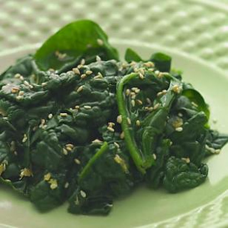 Sauteed Spinach with Toasted Sesame Oil Recipe