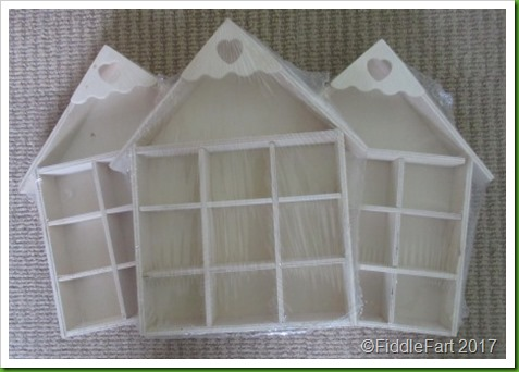 wooden house shaped display tray
