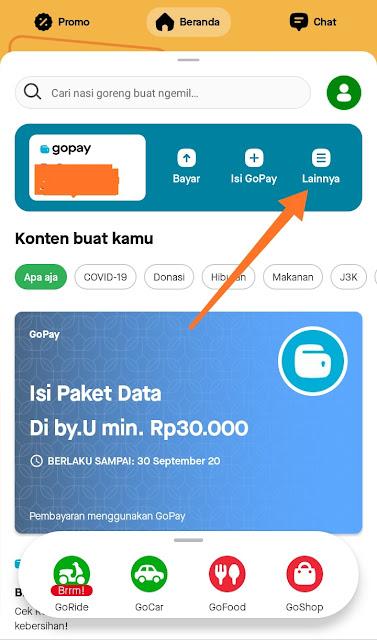 Cara Transfer Gopay ke ATM