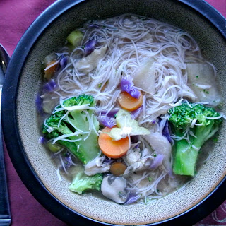 Chicken Noodle Miso Soup (gluten-free, dairy-free)