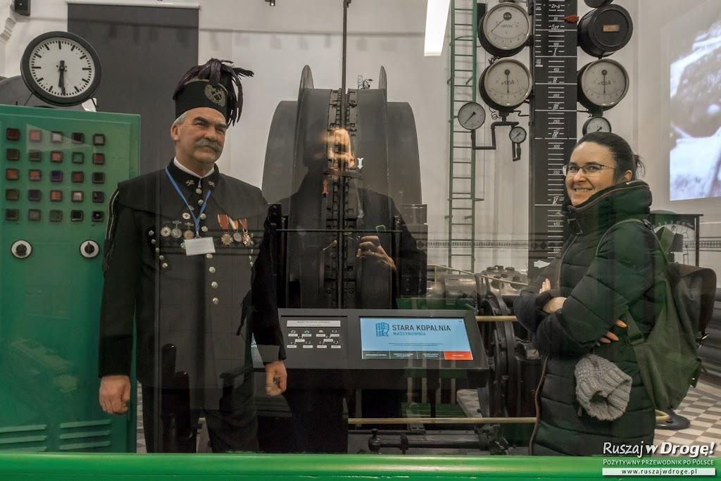 Stara Kopalnia w Wałbrzychu - selfie w maszynowni