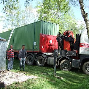 Livraison du 2e container