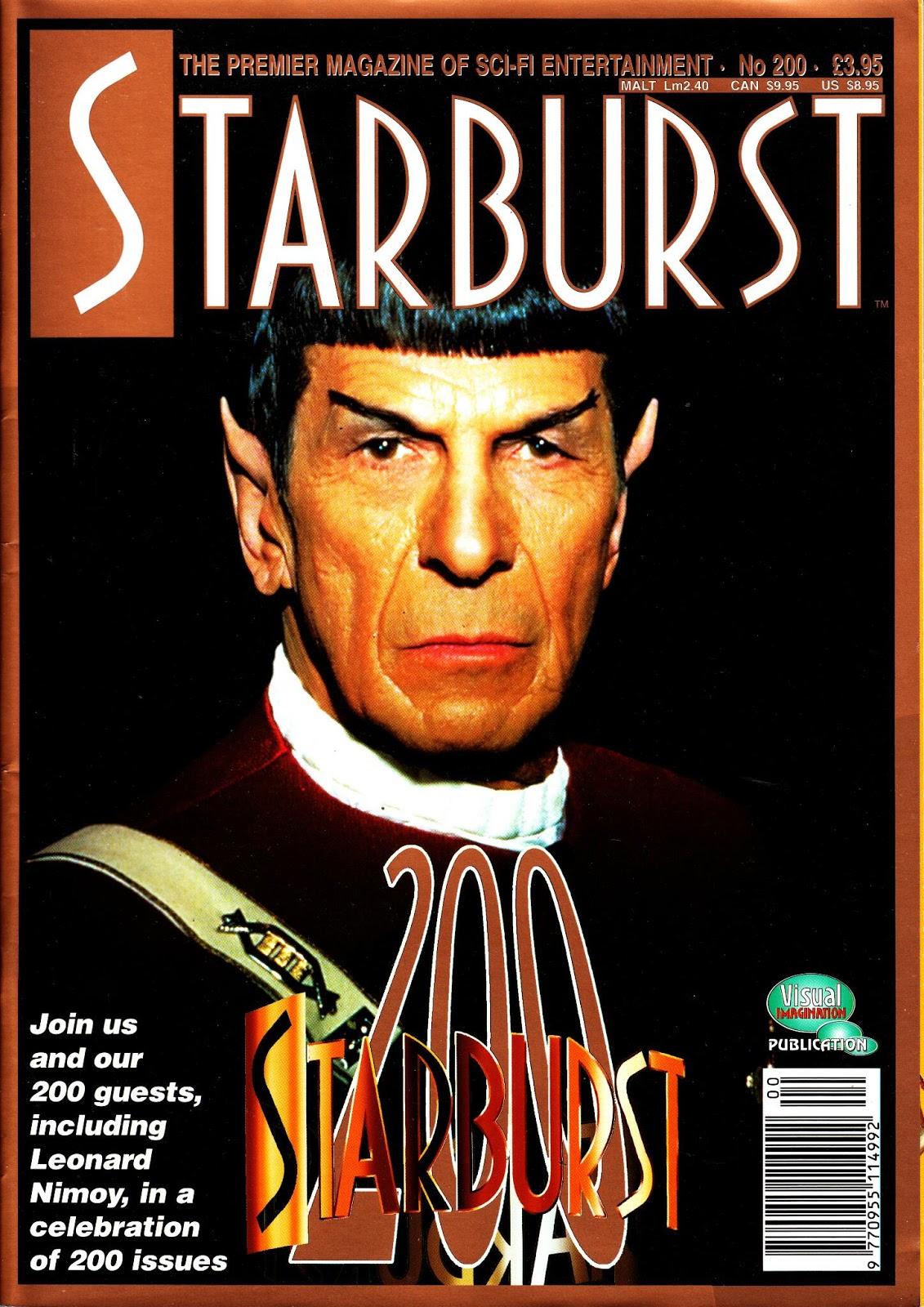 STARLOGGED - GEEK MEDIA AGAIN: 1995: STARBURST MAGAZINE ...