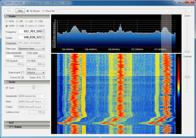 SDR# RTL-SDR/RTL2383U 107.7 WFM