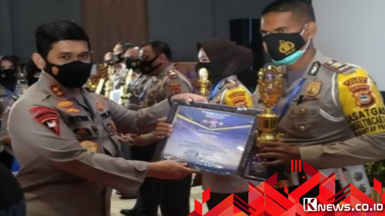 Ajang Lomba HUT Lalu Lintas Bhayangkara ke-75, Sat Lantas Polres Gowa Sabet Tiga Juara