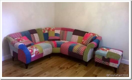 lounge area DFS Shout Corner Sette and pouffe