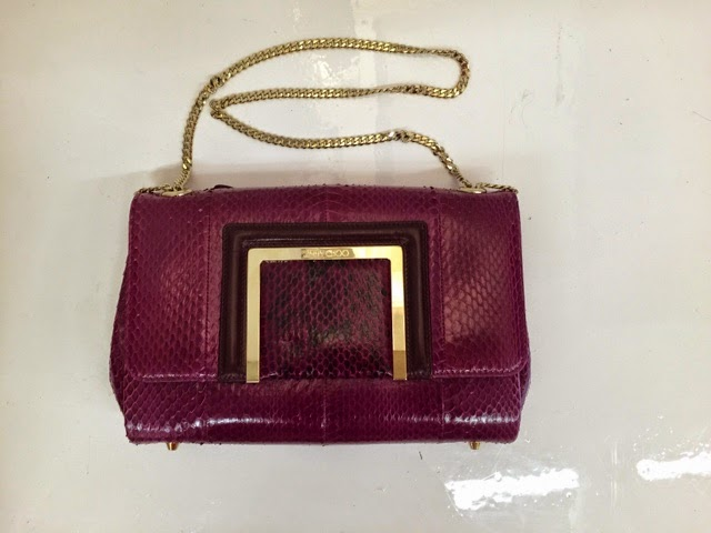 Jimmy Choo snakeskin sale bag