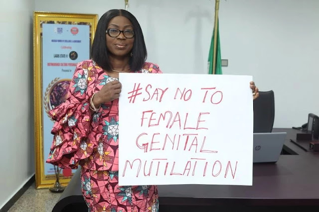 Photo:First lady of Lagos State, Bolanle Ambode, marks the International Day of Zero Tolerance for Female Genital Mutilation (FGM)