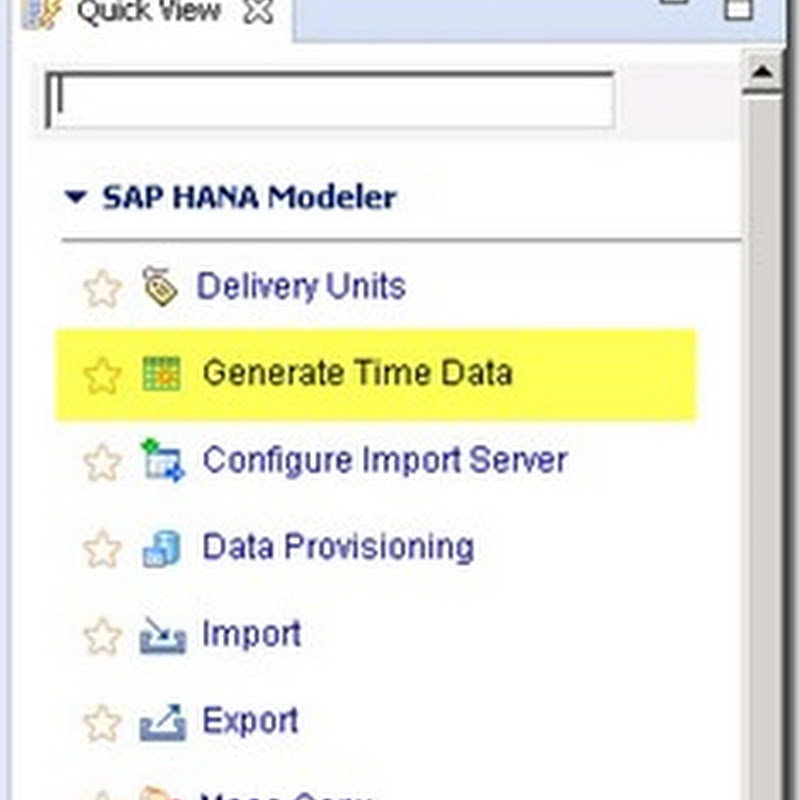 Generate Fiscal Year Time Data in SAP HANA