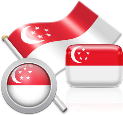Singaporean flag icons pictures collection