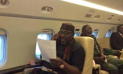 Check out this photo of Okorocha in his exquisite executive jet.
