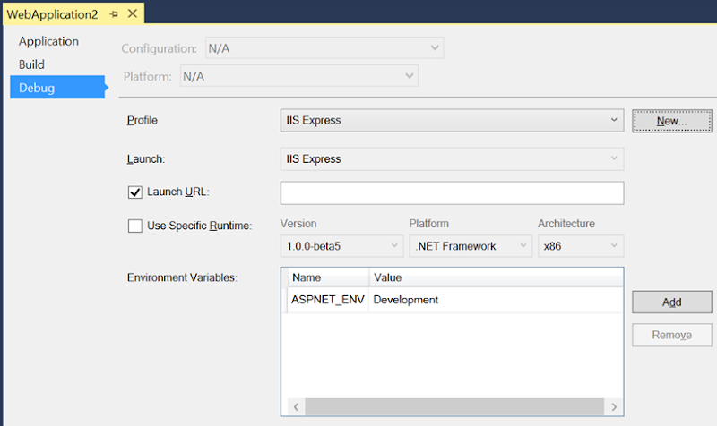ASPNET_ENV settings
