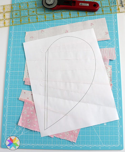 quilt foundation piecing tutorial - Heartstrings quilt block tutorial by A Bright Corner
