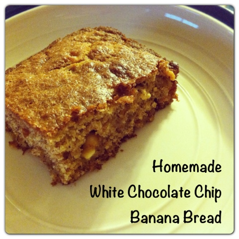 Homemade White Chocolate Chip Banana Bread Recipe