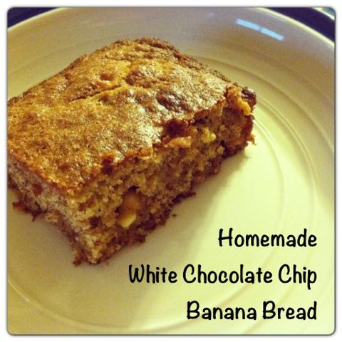 Homemade White Chocolate Chip Banana Bread Recipe