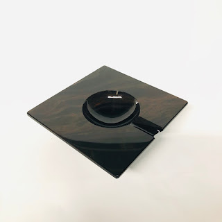 Cub-Ar Obsidian Cigar Ashtray