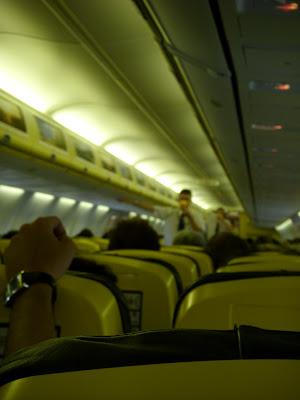 格安フライト離陸前