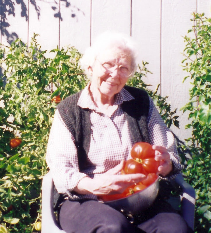 31 - She loved tomatoes almost as much as rhubarb.