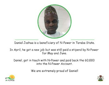 Daniel Joshua Returns Npower N60000