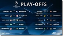 Sorteggio play offs Champions League
