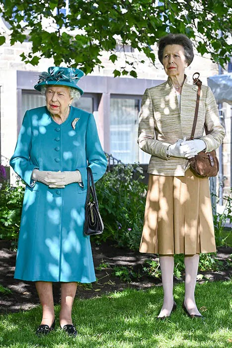 The Queen Spends Last Day in Scotland with Princess Anne