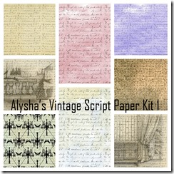 Alysha's Vintage Script Paper Kit Collage
