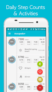 Accupedo+ pedometer – step counter Premium Apk (Premium Subscription) 3