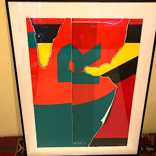 Signed Abstract 'R' Lithograph
